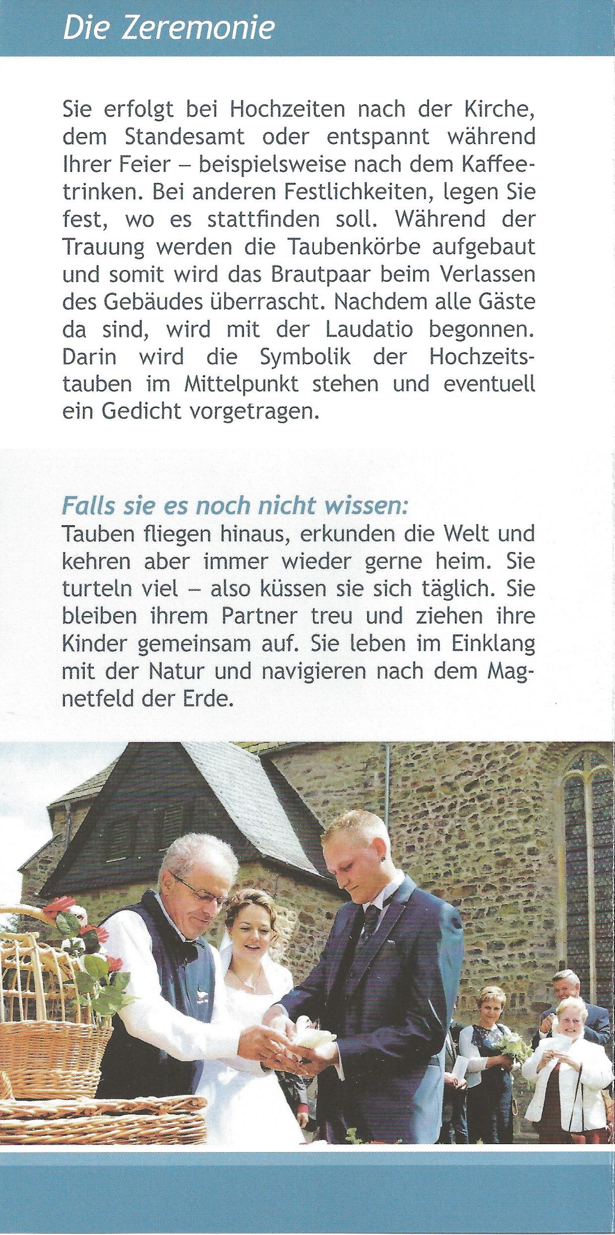 Hochzeitstauben Jürgen Wutzler